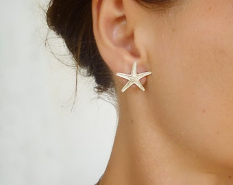 Sterling Silver Starfish Stud Earrings - Earrings 151 & 152 of 365 for EAD2015