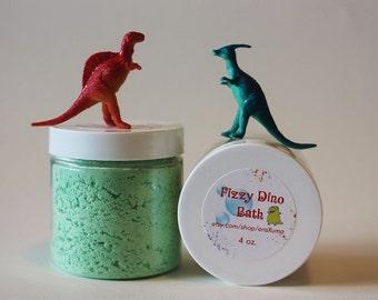 Surprise Fizzy Plastic Dinosaur Toy Epsom Salt Bath Bomb Soak / Gift for Dino Lover/ Gift for a Kid