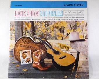 """Hank Snow """"Souvenirs"""" Vinyl Lp Album 1961 Chet Atkins Arrangements"""