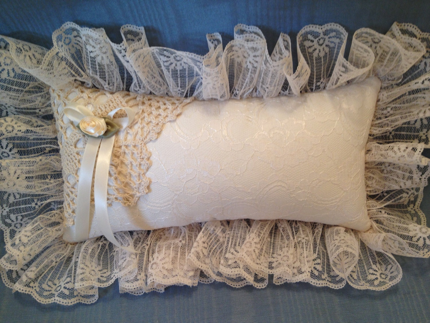 Victorian Shaped Pillows : Ivory Lace Pillow Victorian Pillow boudoir pillow 11 x