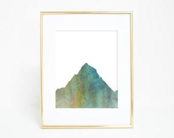 Mountain Artwork, Mountain Watercolor, Mountain Nursery, Nature Print, Art Download, Mountain Art Print, Art Prints Kids, Mountain Nursery