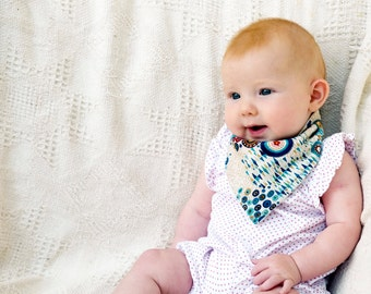 Bandana dribble bib - Baby Bandana - baby neckerchief - dribble bib - toddler
