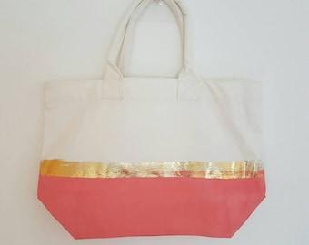 Canvas tote/beach bag