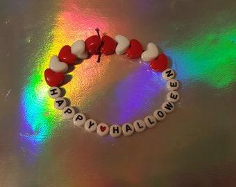 Happy Halloween Candi Beaded Bracelet