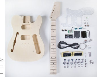 DIY Electric Guitar Kit  Tele Thinline Style Build Your Own Guitar Kit