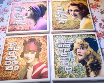 "Coasters ""Sarcastic Ladies"""