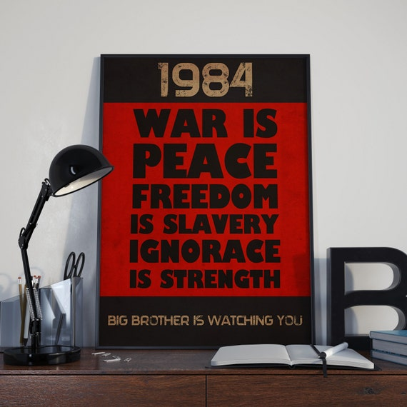 1984 George Orwell Quotes: Items Similar To 1984 George Orwell Book Quote Vintage