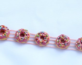 Donut Clay Bracelet, donut clay, lovely bracelet
