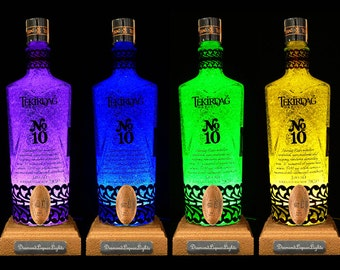 Tekirdag Liqueur Multicolour LED Bottle Lamp. Unique Gift, Table Lamp, Bar Lighting, Mood Lighting, LED Lighting. DiamondLiquorLights