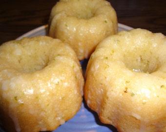 Bright & Fresh Homemade Mini Single Serving Lime Bundt Cakes (1 Dozen)