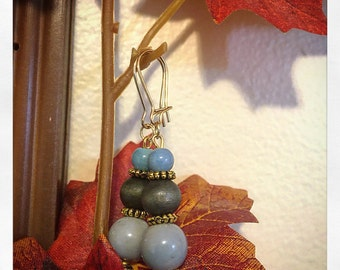 Antique Bead Gold Earrings