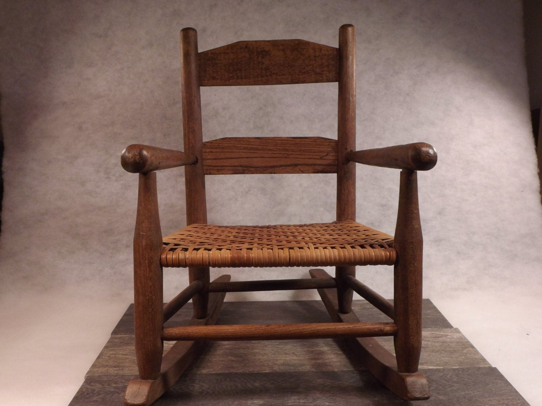 Antique Child Rocker-Child Rocking chair-small Child Rocker