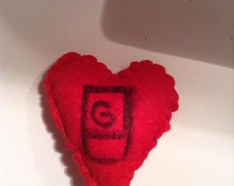 Gerard Way Felt Valentine Heart
