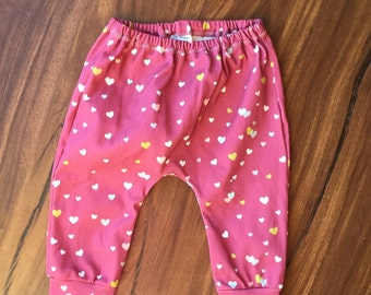 Organic Knit heart pants