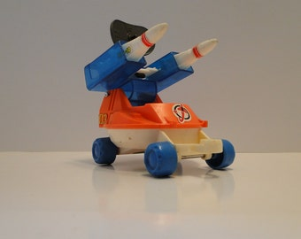 Vintage Playmates Playworld 1984 Space Station Rocket Launcher Rover