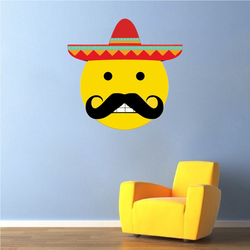 Mexican Emoji Mexican Emoji Decal Emoji Wall Design - Emoji wall decals