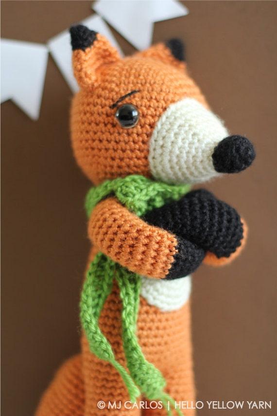 Amigurumi Yarn Australia : Cute Fox Amigurumi Crochet PATTERN ONLY, Finn McFox, pdf ...
