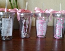 Single (1) Flower Girl Tumbler, Junior Bridesmaid, Ring Bearer Tumbler, Personalized Kids 12 oz Acrylic Tumbler with Straw