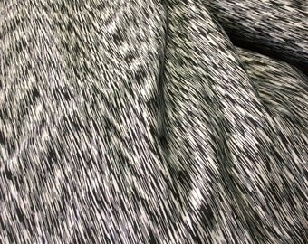 Brushed Gray Marble Athleticwear Knit