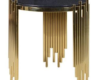 Black/Gold Side Table