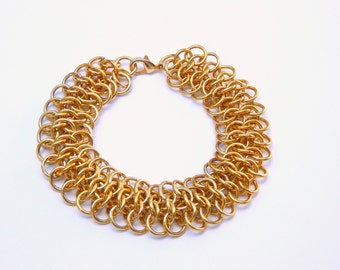 Gold Bracelet, Gold Chain, Plain Gold Jewelry, Plain Gold Chain, Delicate Gold Chain Bracelet, Gold Link Bracelet, Arm Candy, Arm Party