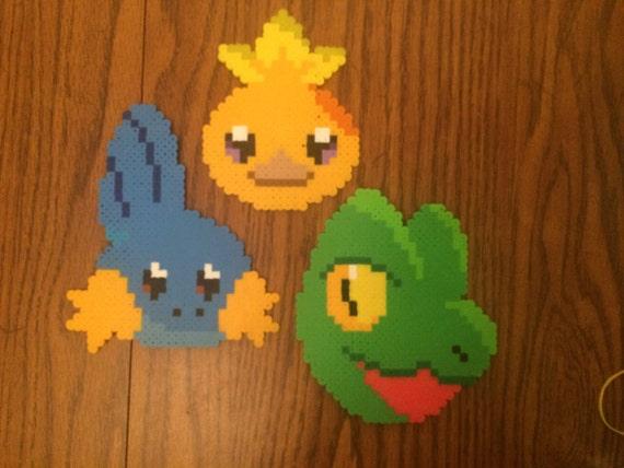 Various Pokemon Starters - Bead Design