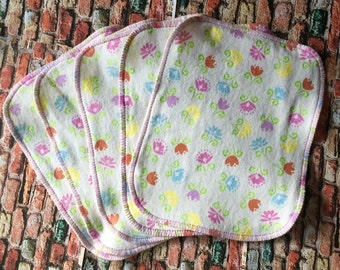 Flower Flannel Cloth Wipes, Reusable Wipes
