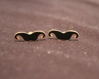 Moustache earrings