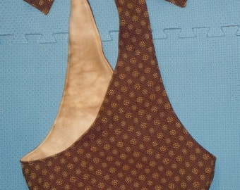 sling-brown and gold brocade with light tan fleece