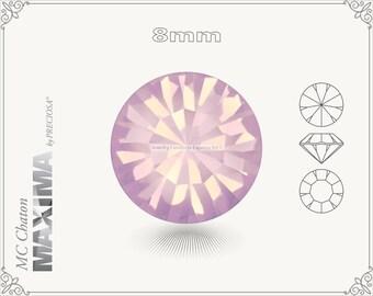6 pc.+ SS39 (8mm) Preciosa MC Chaton MAXIMA - Rose Opal Color