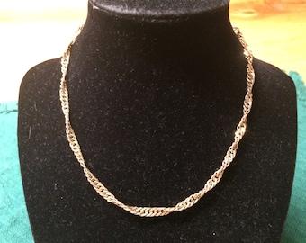 Vintage Goldtone Chain Necklace, 15'' Long