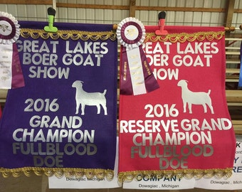 "Large (18x24"") Livestock, Goat, Sheep Award Banners"