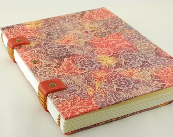 Watercolor book, paper special watercolor, travelogue, Coptic binding, 20cmX15cm, carnettiste, drawings, sketchbook sketchbook