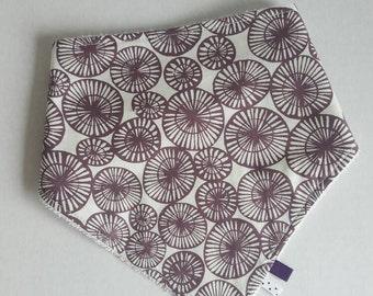 Bandana bib circles purple