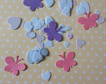 Pink and Lavender Butterfly Party Confetti