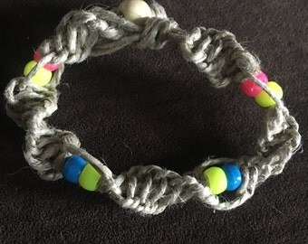 Hemp bracelet or anklet.