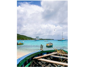 Nautical Photography, Tropical Photography, Island photography, Fine Art Photography - Mustique Row Boat