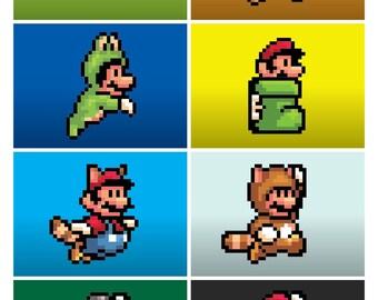 Nintendo Super Mario Brothers 3 Mario Suits Poster