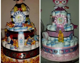 Babyshower Diaper Cake Centerpiece
