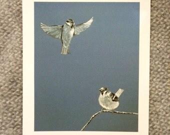 Tree Sparrow Print, Bird Art