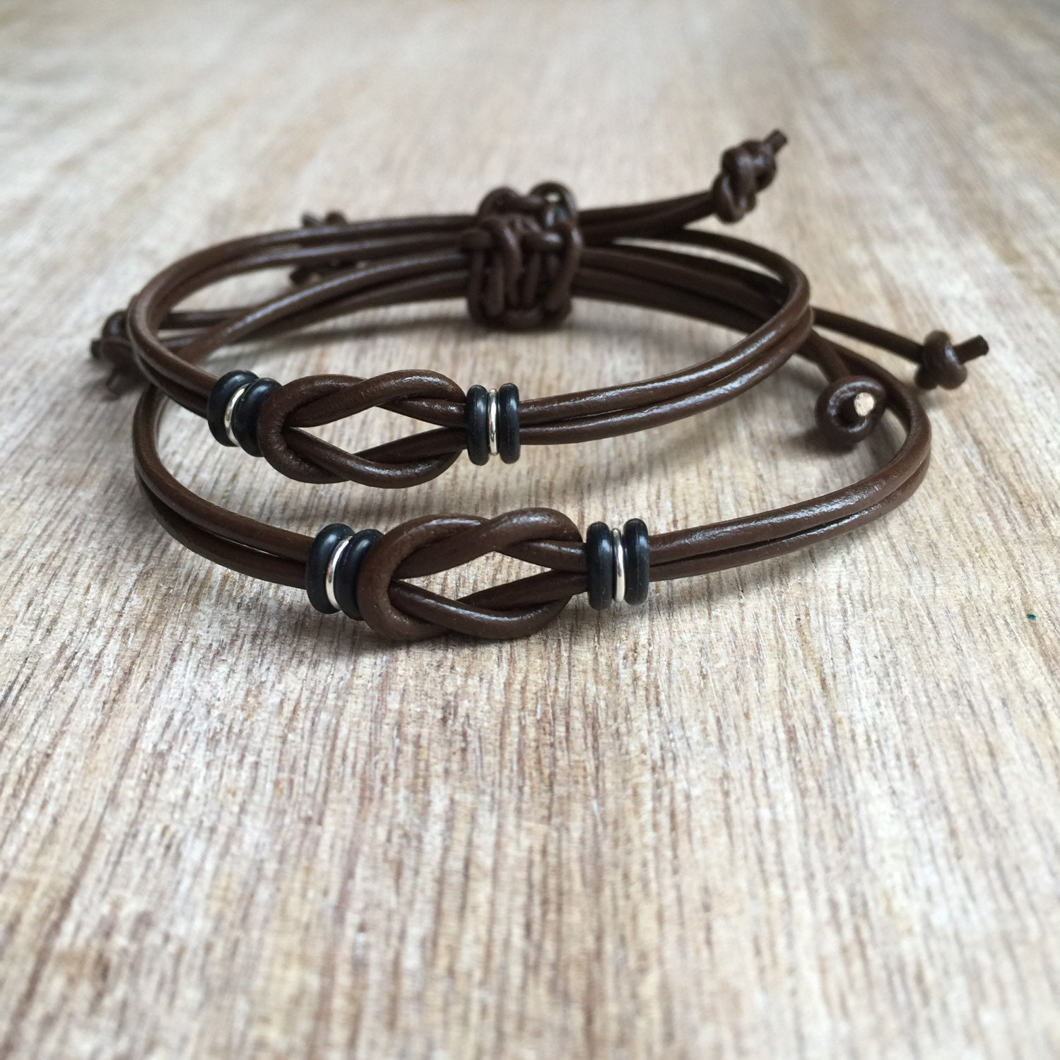 couples bracelet and necklace couples bracelets his and bracelet chocolate leather 6182
