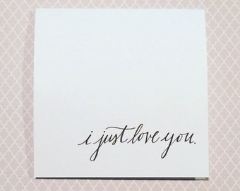Card Set of 4: I just love you