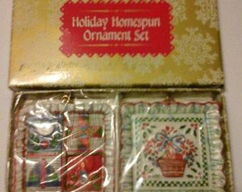 Holiday Homespun Ornament Set
