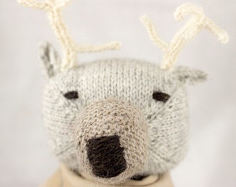 Stag Knit Wool Doll