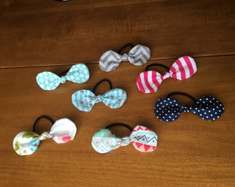 Knot Ponytail Holders, hair tie: set of 10