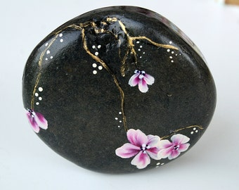 Nº47- painted pebble,  painted stone, painted rock,pebble, painted pebbles, piedras pintadas,