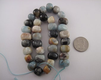 Smooth, Chunky Amazonite beads