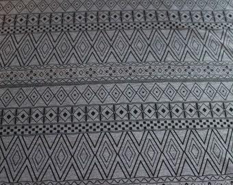 Aztec Grey and Black Cotton/Rayon Blend knit