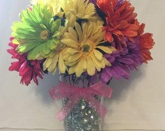 Beautiful Wedding / Shower Daisy Flower Pen Bouquet