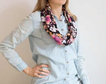 CLEARANCE Technicolor Floral Infinity Scarf